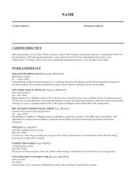 cosy resume management objective examples for business development