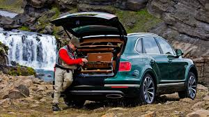 2017 bentley bentayga trunk bentley bentayga gets custom fly fishing version by mulliner
