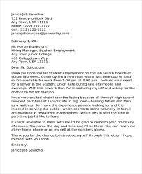 waitress job cover letter 10 part time job cover letter free u0026 premium templates