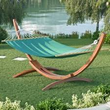 beachcrest home grissom free standing cotton patio hammock with