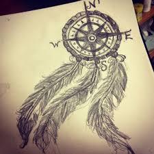 compass dreamcatcher tattoos my compass dream catcher drawing