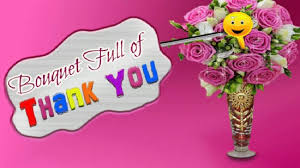 bouquet of thank you animated greeting show your