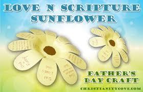 love n scripture sunflower father u0027s day craft