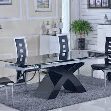 Table Verre Noir Extensible by Table De Salle A Manger En Verre Pas Cher Salle Manger Compl Te