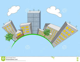 House Planet by Cartoon House On Planet Vector Royalty Free Stock Image Image
