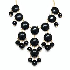 black bead necklace images Black bubble necklace bib style bead necklace with gold chain jpg