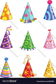 party hats party hats royalty free vector image vectorstock