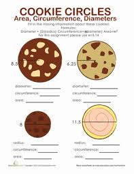 area and circumference of a circle worksheet education com