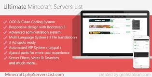 mine craft servers premium minecraft servers list by grohsfabian codecanyon
