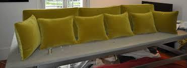 refaire coussin canapé ensemble de coussins pour canapé atelier secrea