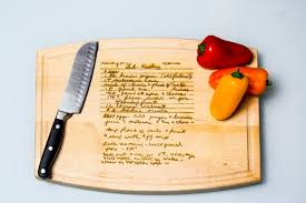 recipe engraved cutting board suncoast laser engraving sarasota florida laser engravers