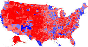 Election 2016 Map by County By County Results 2000 U S Presidential Election
