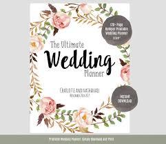 the ultimate wedding planner organizer wedding planner printable wedding planner wedding binder