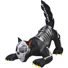 Animated Outdoor Halloween Decorations Gemmy Airblown Inflatable 6 U0027 X 6 U0027 Animated Wicked Cat Halloween