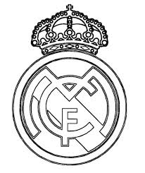 real madrid logo soccer coloring pages soccer