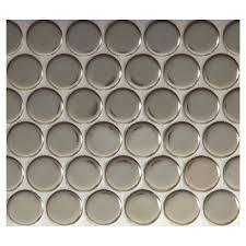 penny round mosaic blonde bronze metallic complete tile