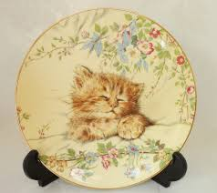 Quality Home Decor Royal Worcester Kitten Classics Decorative Plate Issue One Cat Nap