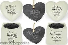 personalised remembrance memorial bereavement grave vase ornaments