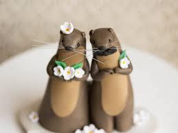 otter wedding river otter cake topper by bonjour poupette