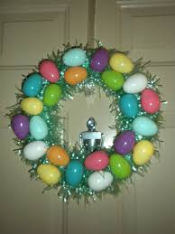 how to make an easter egg wreath cheap easter wreath theblondelawyer