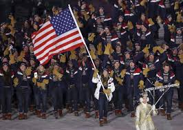 Flags Of The United States Hamlin Carries American Flag Into Olympics U0027 Opening Ceremonies