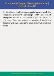 A 1 Carpet Sample Commercial Carpet Cleaning Postcard