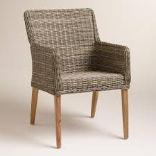 gray all weather wicker borgia dining chair mid century style
