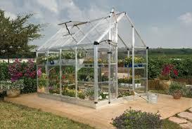 Palram Lean To Greenhouse Palram Snap U0026 Grow 6 Ft W X 8 Ft D Polycarbonate Greenhouse