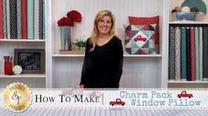 charm pack window pillow with jennifer bosworth of shabby