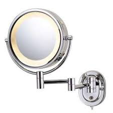 lighted vanity mirror wall mount makeup mirrors bathroom mirrors the home depot