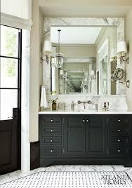 marble mirror surround tile sconces bath pinterest black