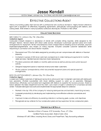 Comprehensive Resume Sample Format by Best Collection Agent Resume Template With Work History Of