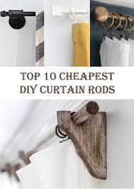 Easy Curtain Rods Top 10 Cheapest Diy Curtain Rods Diys To Do