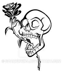 tribal skull and bw by shadowkira on deviantart