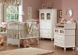 vintage bedroom design ideas with white cupboard and wooden baby