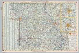 Map Missouri Shell Highway Map Of Missouri David Rumsey Historical Map
