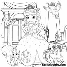 printable princess sofia coloring sheet girls printable