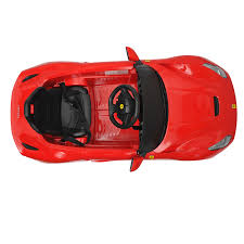 toy ferrari 458 ferrari f12 kids 6v electric ride on toy car w parent remote