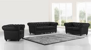 canapé cuir noir 3 places canapés cuir 2 ou 3 places mobilier cuir