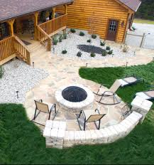 Flagstone Firepit Pit Builder Louisville Ky Lambs Lawn Service