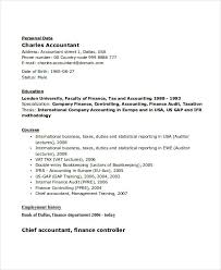 Senior Accountant Sample Resume by 31 Accountant Resume Samples Free U0026 Premium Templates