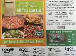 round table pizza lunch buffet hours location moved ad picture of round table pizza san jose tripadvisor