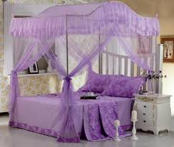 Mosquito Net Bed Canopy New Four Corner Mosquito Net Bed Canopy Pink Ribbon King