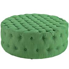 Green Ottoman Amour Upholstered Fabric Ottoman Green By Modway