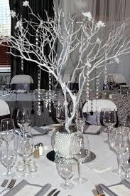 silver centerpieces table bling centerpiece manzanita best ideas on wedding