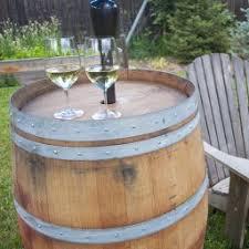 Wine Barrel Patio Table Wine Barrel Patio Table With Umbrella Alpine Wine Design