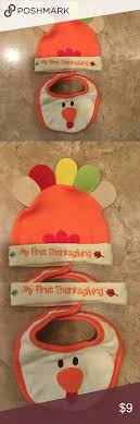 nwot my thanksgiving bib and hat bibs thanksgiving and