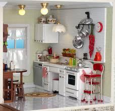 miniature dollhouse kitchen furniture dollhouse miniatures retro modern kitchen from miniatures com