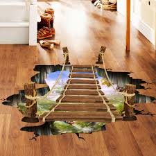 creative wall murals promotion shop for promotional creative wall creative floating bridge 3d wall sticker drawbridge wall mural home decorative stickers for kids rooms bedroom poster sticker