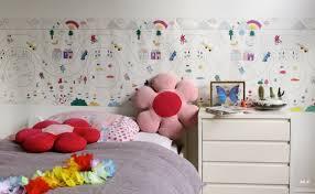 chambre fille originale papier peint chambre enfant castorama ravizh murale com decoration